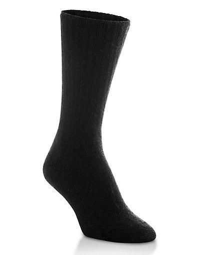 Worlds Softest Sock Women's Crew Socks 1-Pair Black 10-12