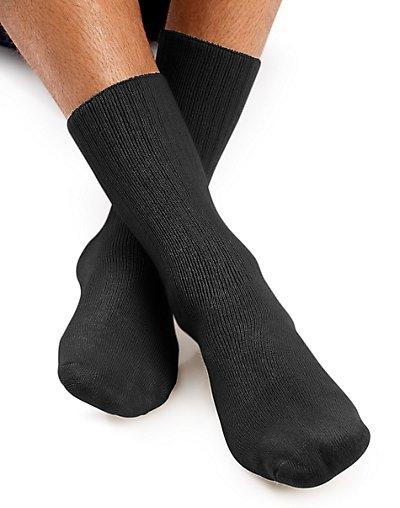 Worlds Softest Sock Men's Crew Socks 1-Pair Black XL