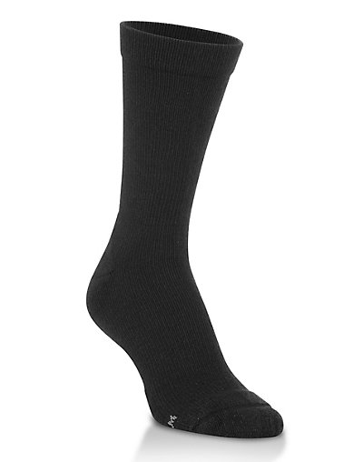 Worlds Softest Sock Men's Support Fit Crew Socks 1-Pair Black XL