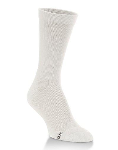 Worlds Softest Sock Men's Support Fit Crew Socks 1-Pair White XL