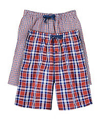 60e81fb9db4c02 image of Hanes Men s Woven Plaid Shorts 2-Pack with sku 106901