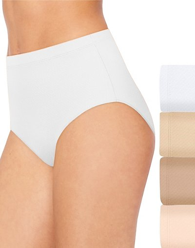 Hanes Ultimate Breathable Comfort Micro Mesh Brief 4-Pack White/Soft Taupe/Deep Glow/Light Buff 5