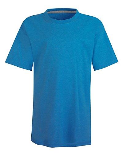 Hanes Kids' X-Temp Performance T-Shirt Neon Blue Heather XS
