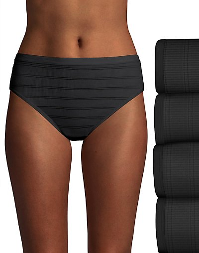 Hanes Ultimate Comfort Flex Fit Hi-Cut 4-Pack Black/Black/Black/Black 8