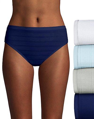 Hanes Ultimate Comfort Flex Fit Hi-Cut 4-Pack White/Blue Bling/Sterling Grey/Coil Blue 8