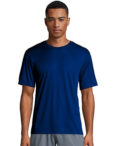 Hanes Sport Cool Dri Men's Performance Tee Deep Royal XL