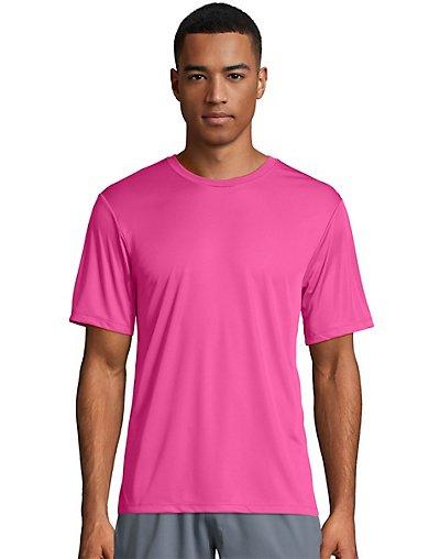 Hanes Sport Cool Dri Men's Performance Tee Wow Pink 2XL