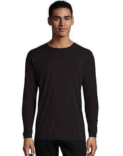 Hanes Nano-T Men's Long-Sleeve T-Shirt Black 2XL