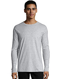 6d09a8a537 image of Hanes Nano-T® Men's Long-Sleeve Tee with sku:91752