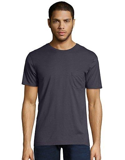 Hanes Men's Nano-T Pocket T-Shirt Vintage Black 3XL