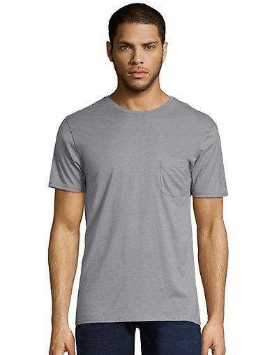 Hanes Men's Nano-T Pocket T-Shirt Vintage Gray 2XL