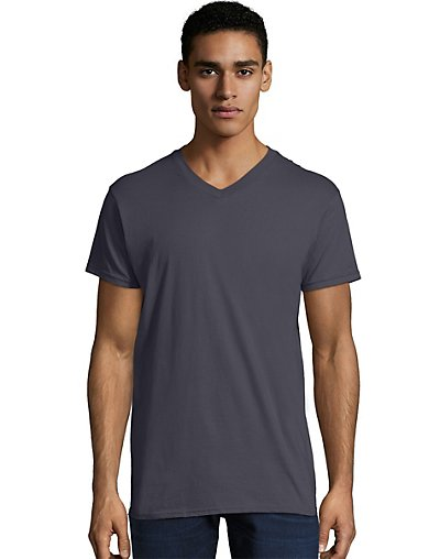 Hanes Men's Nano-T V-Neck T-Shirt Vintage Black S