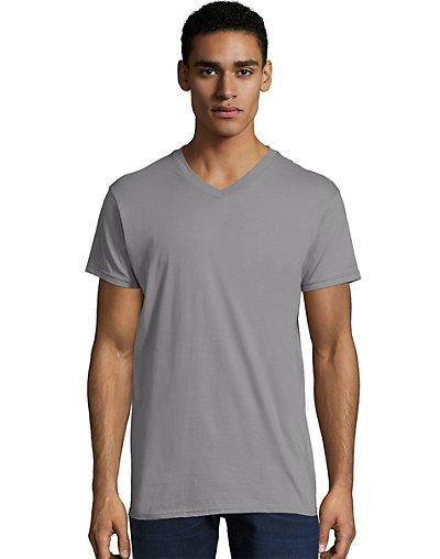 Hanes Men's Nano-T V-Neck T-Shirt Vintage Gray S