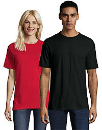 image of Hanes Beefy-T Crewneck Short-Sleeve T-Shirt with sku:146902