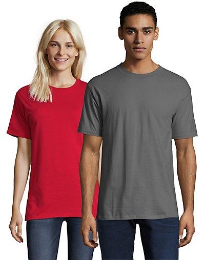Hanes Beefy-T Crewneck Short-Sleeve T-Shirt Smoke Gray S