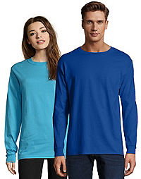 image of Hanes Adult Beefy-T Long-Sleeve T-Shirt with sku:147263