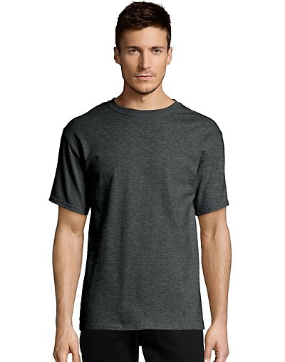 Hanes Men's TAGLESS Short-Sleeve T-Shirt Charcoal Heather 4XL