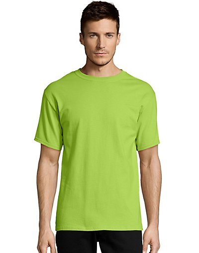 Hanes Men's TAGLESS Short-Sleeve T-Shirt Lime 3XL