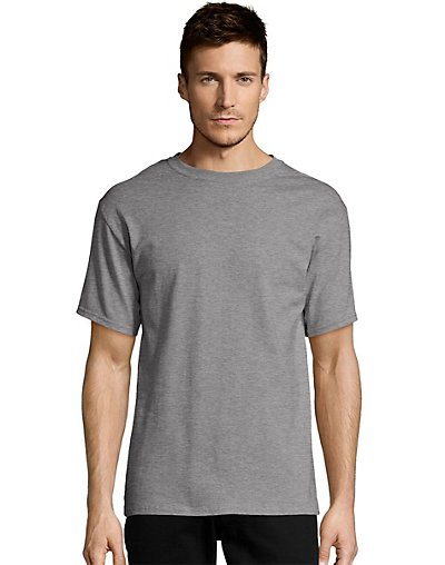 Hanes Men's TAGLESS Short-Sleeve T-Shirt Oxford Gray S