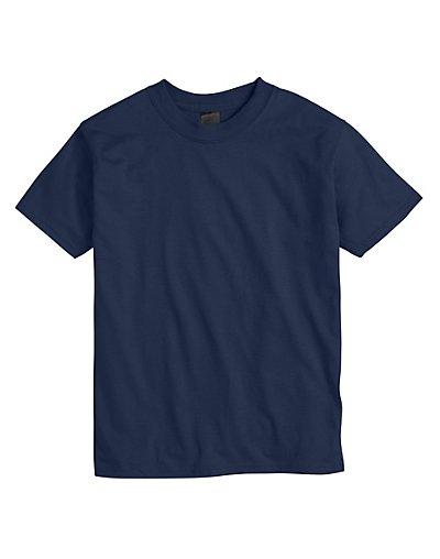 Hanes Kids' Beefy-T T-Shirt Navy S