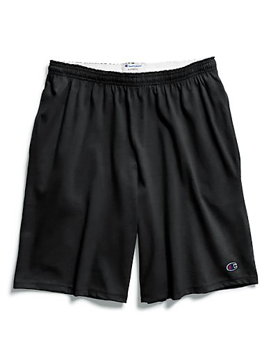 Champion Authentic Cotton 9-Inch Men's Shorts with Pockets Black L