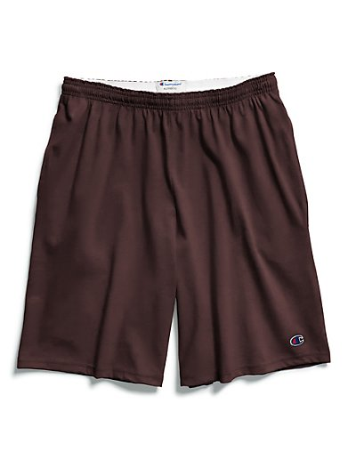 Champion Authentic Cotton 9-Inch Men's Shorts with Pockets Maroon XL