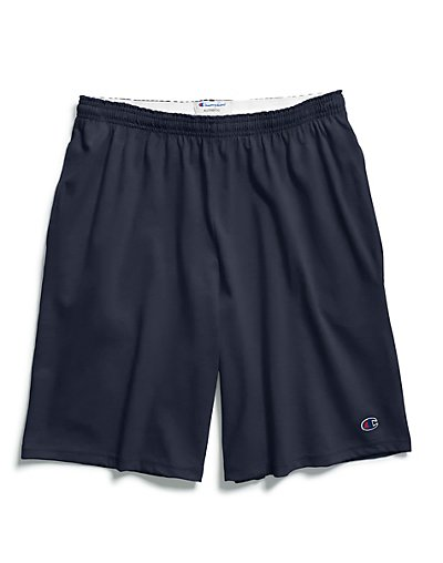 Champion Authentic Cotton 9-Inch Men's Shorts with Pockets Navy M