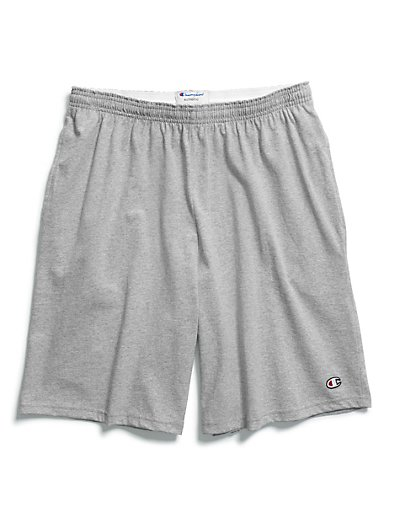Champion Authentic Cotton 9-Inch Men's Shorts with Pockets Oxford Grey 2XL