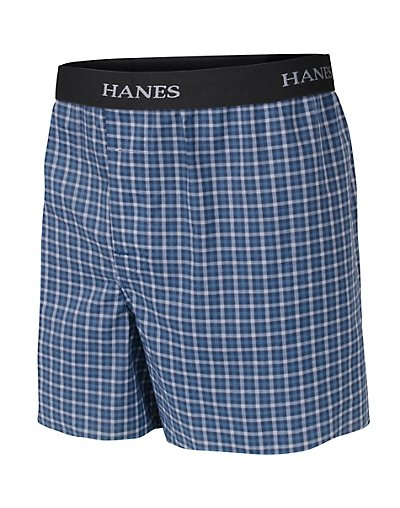 Image of Boys' Hanes Ultimate Yarn Dye Boxer with Comfort Flex Waistband 3-Pack Assorted S