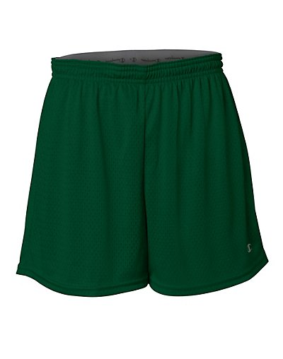 Champion Women's Active 5' Mesh Short Athletic Dark Green 2XL
