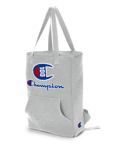 Champion Life 100 Year Shuffle Convertible Tote Backpack Oxford Heather Grey ONE SIZE