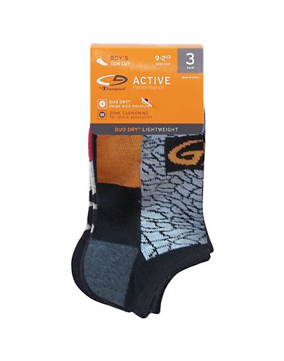 C9 by Champion Boys' Low-Cut Socks 3-Pack Black/Grey Assorted 9-11
