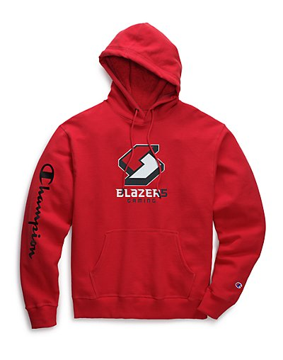 Exclusive Champion Men's NBA 2K Portland Blazers Gaming Pullover Hoodie Scarlet XL