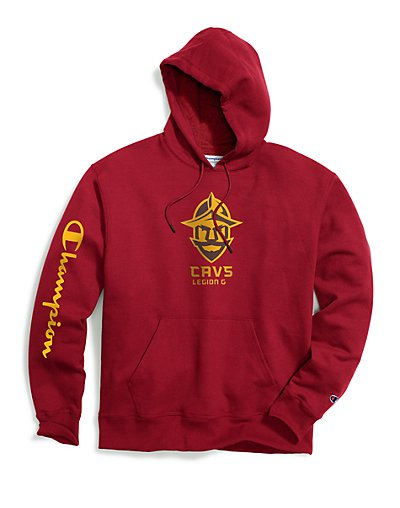 Exclusive Champion Men's NBA 2K Cleveland Cavs Gaming Pullover Hoodie Garnet XL