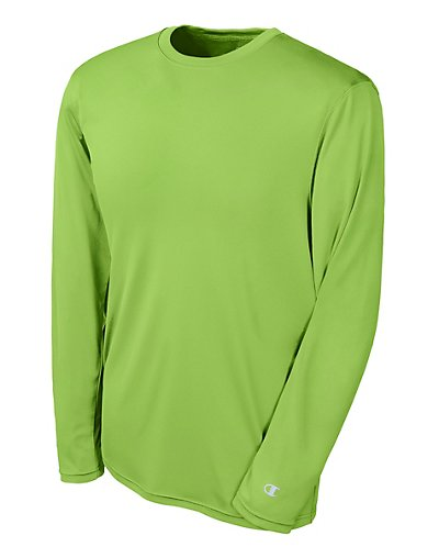 Champion Double Dry Long Sleeve Tee Neon Lime Green 3XL