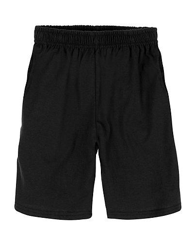 Hanes Boy's Jersey Short Black XS