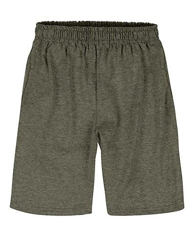 Hanes Boy's Jersey Short Camo Green Heather XS