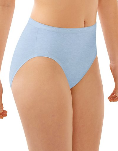 Bali Full-Cut-Fit Hi-Cut Panty Blue Tulle Heather 7