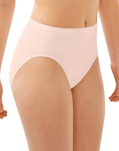 Bali Full-Cut-Fit Hi-Cut Panty Silken Pink 6