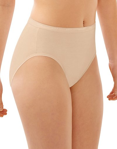 Bali Full-Cut-Fit Hi-Cut Panty Soft Taupe 6