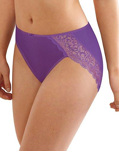 Bali Lace Desire Microfiber Hi-Cut Brief Purple Vista 8