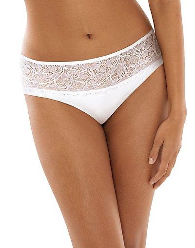 Bali Lace Desire Microfiber Hipster White w/White 7