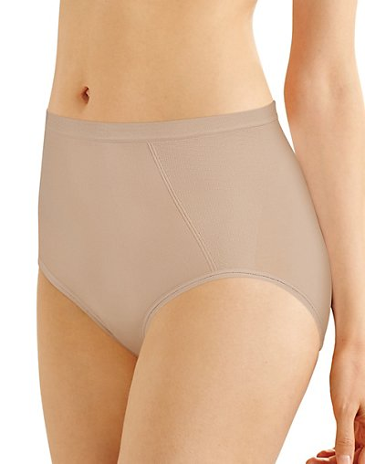 Bali Seamless Brief With Tummy Panel Ultra Control 2-Pack Nude L