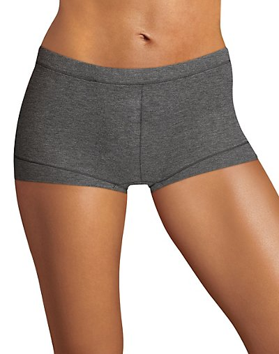 Maidenform Dream Tailored Cotton Boyshort Charcoal Heather S/5