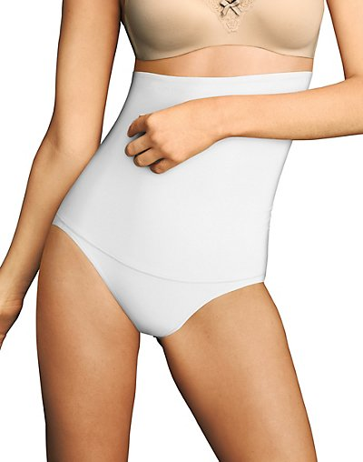 Maidenform Firm Control Hi-Waist Brief White XL