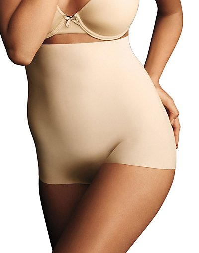Maidenform Sleek Smoothers Hi-Waist Boyshort Paris Nude M