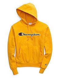 Champion Life  Men s Reverse Weave  Pullover Hood, Chain Stitch Script Logo b47d0187f39f