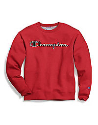 6f5129df25ef Champion Men's Powerblend® Fleece Crew, Logo With White Chainstitch
