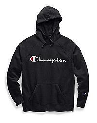 7cc6aa8da5ae Champion Women's Powerblend® Fleece Pullover Hoodie, Script Logo