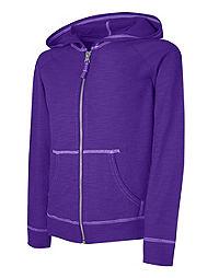 a786c8d8b9a Hanes Girls  Slub Jersey Full-Zip Hoodie